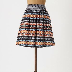 Anthropologie Porridge Boho Duo Print Mini Skirt 2